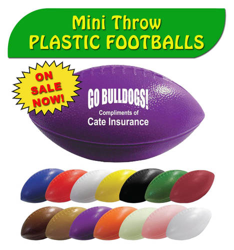 Plastic footballs on Sale!