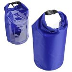10-Liter Waterproof Gear Bag With Touch-Thru Pouch - Medium Blue