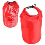 10-Liter Waterproof Gear Bag With Touch-Thru Pouch - Medium Red