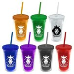 Buy 16 oz. Double-Wall Insulated Transparent Tumbler