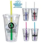 Buy Travel Cup Custom Imprinted Tumbler with Mood Straw 16 oz.