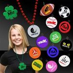 "Buy 2 1/2"" Plastic Medallions for Mardi Gras Bead Necklaces"