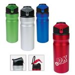 Buy Sports Bottle  Aluminum with Flip Up Lid 24 oz