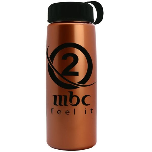 Main Product Image for 26 oz Metallic Tritan Bottle with Tethered lid