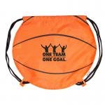 Buy Custom Imprinted Drawstring Backpack Basketball