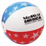 Buy Custom Imprinted Beach Ball Patriotic  16in