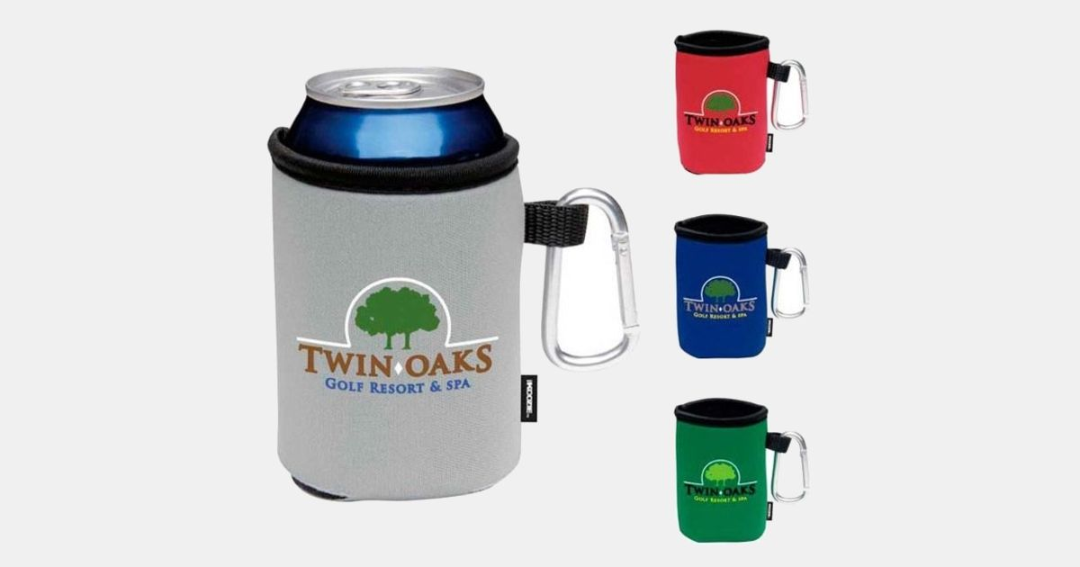Can Cooler Koozie R Collapsible Can Kooler With Carabiner