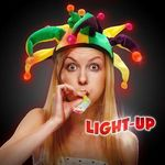 Buy Costume Hat Light-Up LED Glow Mardi Gras Hat