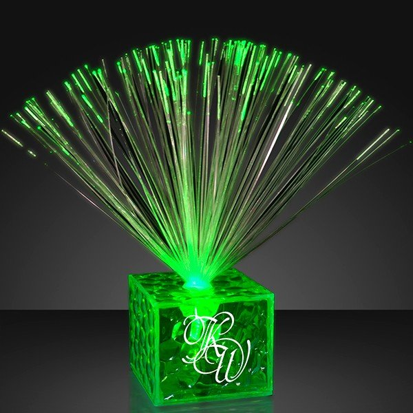 Light up small green centerpieces with your logo