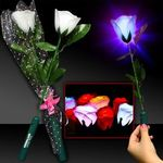 Buy Costume Light Up White Silk Rose Glow Flower with LED