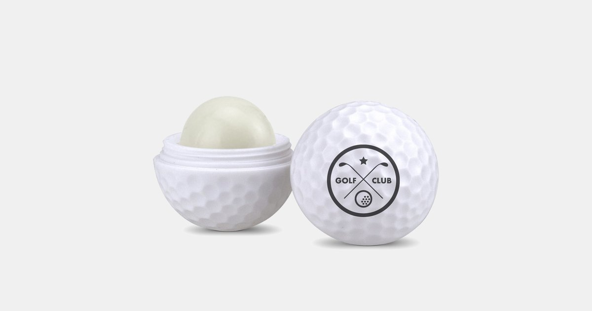 Customized Lip Moisturizer Container Golf Ball Shaped