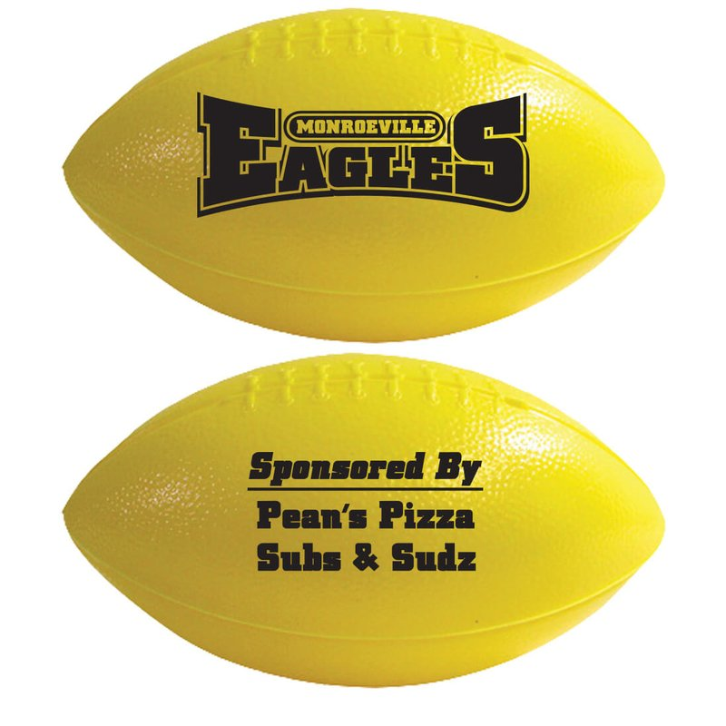 "Main Product Image for Mini Football Plastic 6"" Two Sided Imprint"