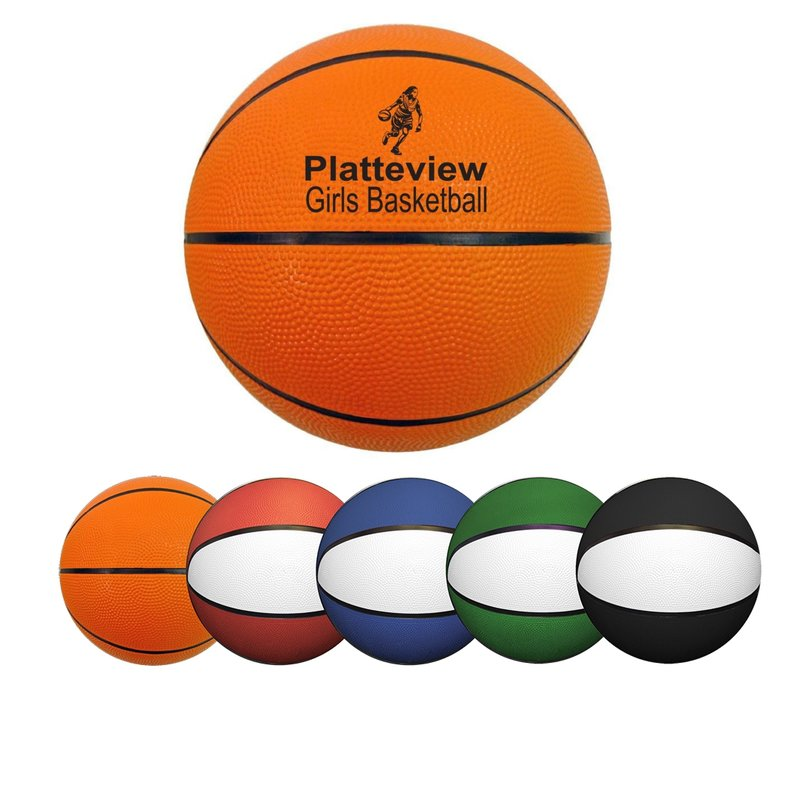 Main Product Image for Mini Rubber Basketball  7""