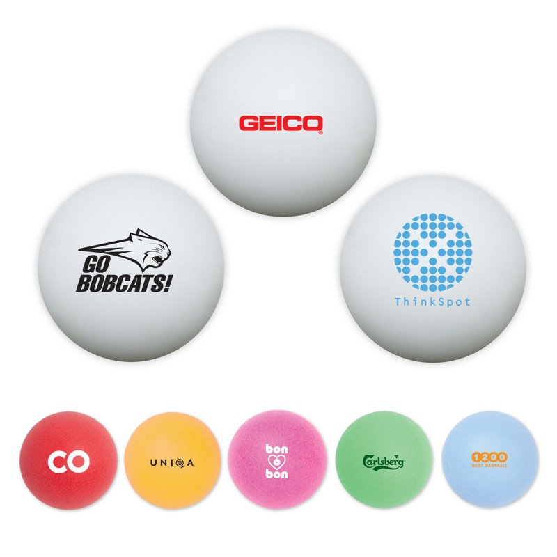 Ping pong balls with your logo for Small ping pong balls
