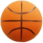 Rubber Basketball - Full Size -  Orange Side
