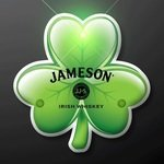 Buy Custom Shamrock Blinky Led Lapel Pins