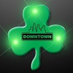 Buy Custom Shamrock Flashing Pins - Blinky Green