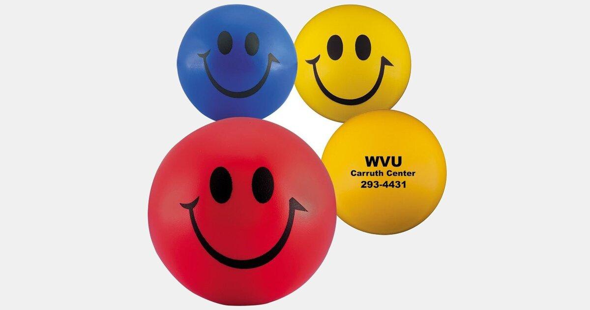 Stress Ball Round Smiley Face Minithrowballs Com