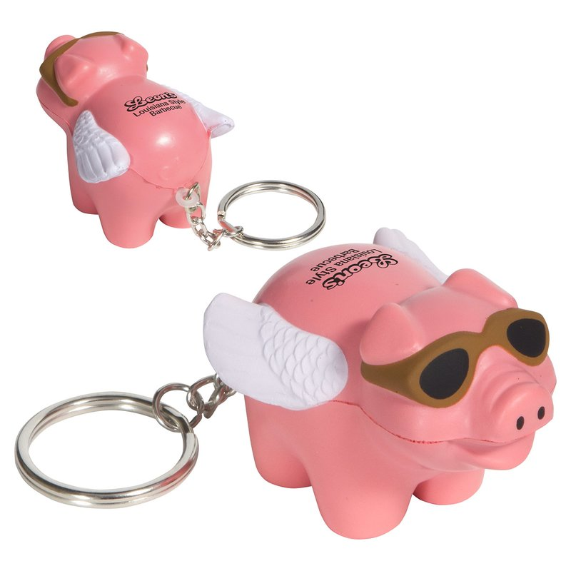 Main Product Image for Stress Reliever Flying Pig Key Chain