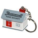 Buy Custom Imprinted Stress Reliever Key Chain - House