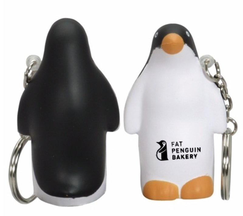 Main Product Image for Stress Reliever Penguin Key Chain