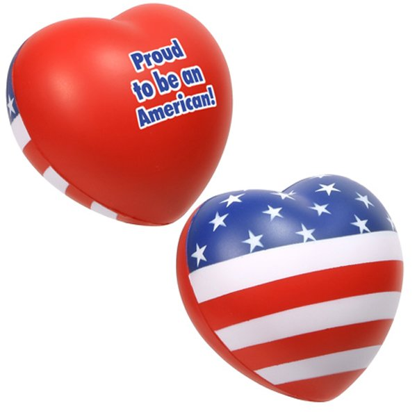 Main Product Image for Stress Reliever Patriotic Valentine Heart